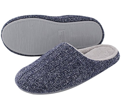 Cozy Niche presents HomeIdeas Men's Cashmere Cotton Knitted House Slippers