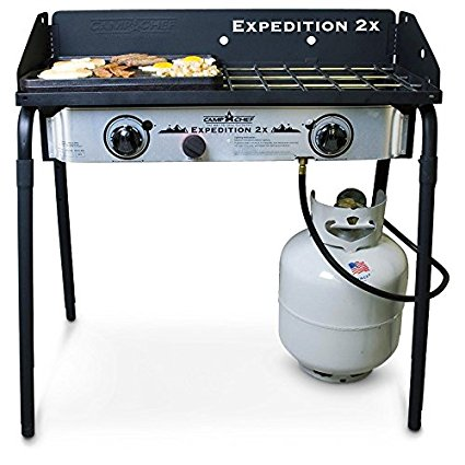 Camp Chef Expedition 2 Stove with Bonus Cast Iron Griddle - Best Camping Stoves
