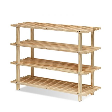 Furinno 5 Pine Solid Wood Rack - FNCJ- 3300