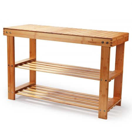 Mosa Natural Bamboo Entryway Shoe Bench