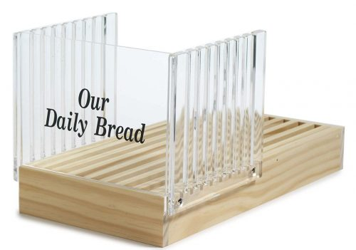 Norpro presents Premium Quality Bread Slicer with Crumb Catcher