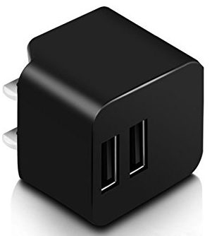 Amemo 12W 2.4A Dual USB Port Wall Charger Adapter