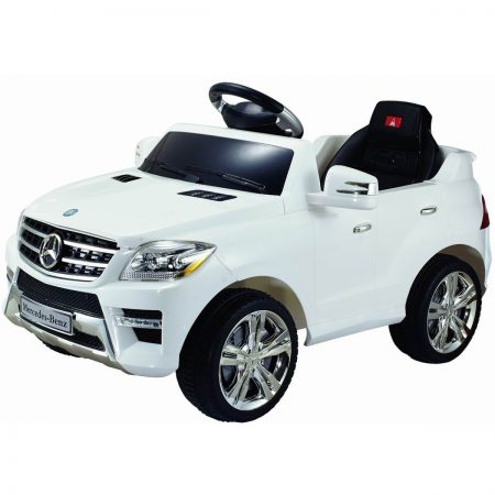 Costzon White Mercedes Benz Electric Kids Ride