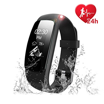 LETSCOM Fitness Tracker Heart Rate Monitor Watch