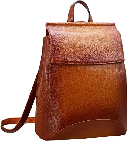 Leather Backpack for Women by Heshe In A Casual Style for Ladies