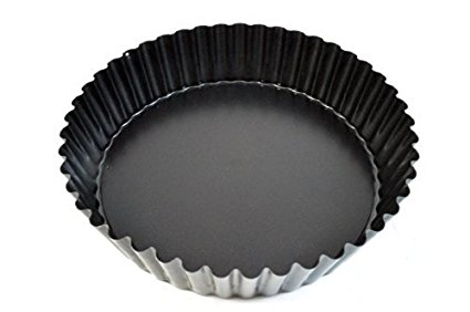 """Paderno World Cuisine Non-Stick Tart Mold 9.5 Inch """"Deep"""" Fluted with Removable Bottom"""