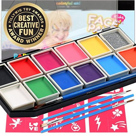 Professional 12 Color Mega Palette Face Painting Kits For Kids