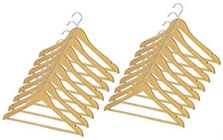 Whitmor GRADE A Natural Wood Suit Hangers
