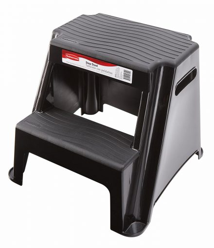 Rubbermaid RM-P2 2-Step Molded Plastic Stool with Non