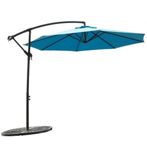 FLAME&SHADE 10' Hanging Offset Outdoor Umbrella