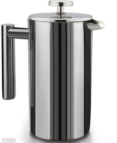 French Press Double-Wall Stainless Steel Mirror Finish