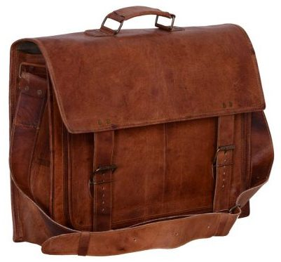 """Komal's Passion Leather 16"""" Sturdy Messenger Bag for Laptop"""