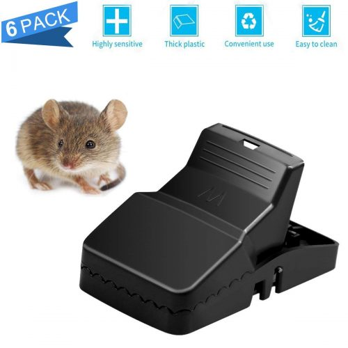 Mouse Trap, Rat Trap 6 Pack Rodent Killer Clip, Sensitive Mice Traps Catcher