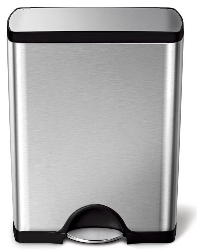 simplehuman 50 Liter/13.2 Gallon Stainless Steel