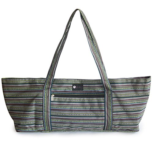 Aurorae Yoga Mat Tote Bag, Extra Wide to Fit Most Yoga Mats and Accessories