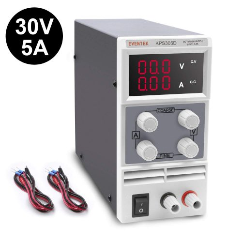 DC Power Supply Variable, Eventek KPS305D Adjustable Switching Regulated Power Supply Digital