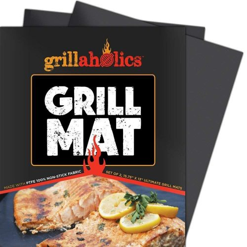 Grillaholics Grill Mat - Set of 2 Heavy Duty BBQ Grill Mats-BBQ Grill Mats