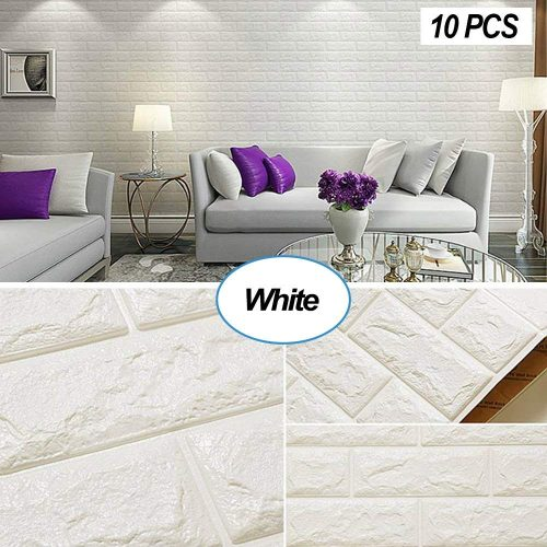 Masione 3D Self-adhesive Wall Panels Faux Foam Bricks Wallpaper