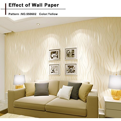 Modern Textured Wallpaper Non-Woven 3D Wave Pattern Environmental Protection Wallpaper Bricks for Living room