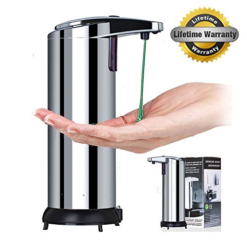 Touchless Stainless Steel Liquid Soap Dispenser, Automatic Lotion Dispenser