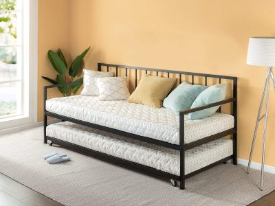 5. Zinus Newport Twin Daybed with Trundle: