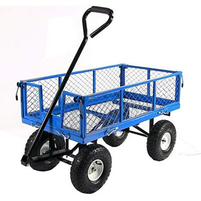 6. Sunnydaze Garden Cart with 400 Pound of Capacity: