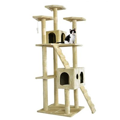 "9. BestPet 73"" Cat Tree Condo:"