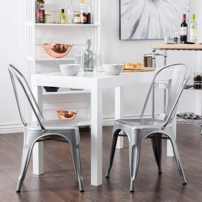 6. Belleze Vintage Style Dining Chairs: