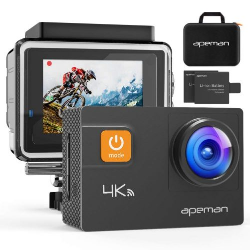APEMAN Action Camera 4K 20MP WiFi Ultra HD Underwater Waterproof