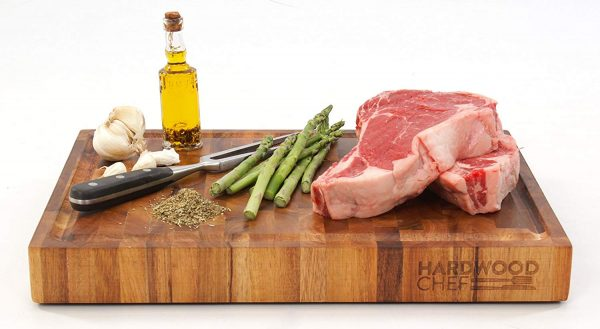 Hardwood Chef Premium Thick Acacia Wood End Grain Cutting Board Butcher Block