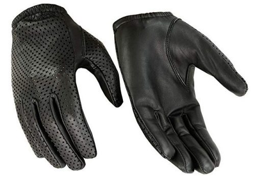 Hugger Glove Company Men's Air Pro Sport Motorcycle, Driving, Police Patrol Summer Glove Water Resistant Leather