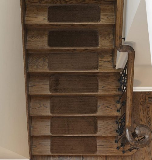 Ottomanson Softy Stair Tread Mats, Skid resistant, Rubber Backing