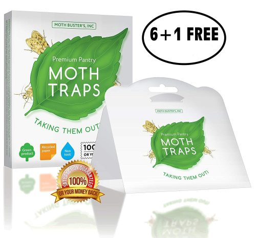 Pantry Moth Traps Safe Non-Toxic Professional Pheromone Trap NO Insecticides Moth Busters