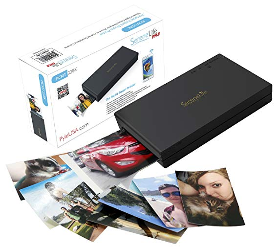 Portable Instant Mobile Photo Printer - Wireless Color Printing from Apple devices: