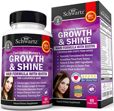 3. Hair Growth Vitamins by BioSchwartz: