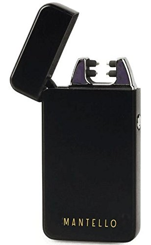 Mantello Tesla Coil Lighter USB Rechargeable Windproof Dual Arc Lighter: