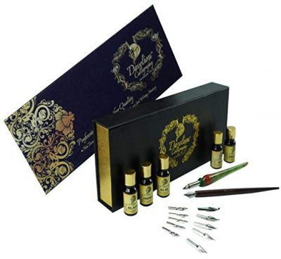 3.  Daveliou Calligraphy Pen Set - 19 Piece Kit & Case: