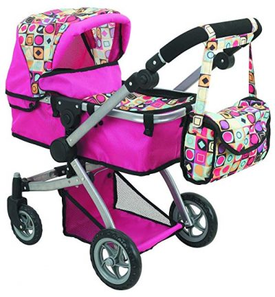 2. Doll Strollers Pro Deluxe Doll Stroller with Swiveling Wheels: