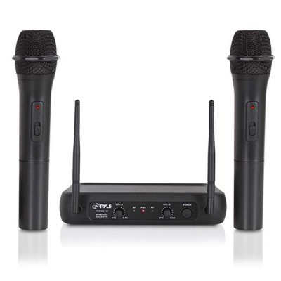 Dual Channel Wireless Microphone System Pyle Pro PDWM2135