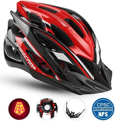 Basecamp Specialized Bike Helmet with Safety Light: