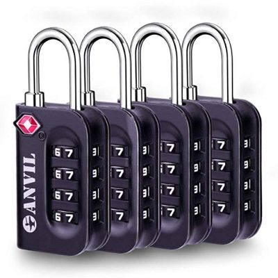 TSA Approved Luggage Lock - 4 Digit Combination padlocks from Anvil: