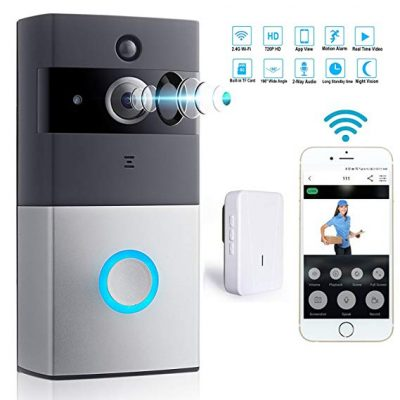 WiFi Video Doorbell with Indoor Chime Smart 720P HD Wireless Alarm system Security Camera from icamer: