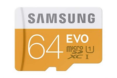 Samsung EVO 64GB 48/MB/s Micro SDXC Memory Card with Adapter up to (MB-MP64DA/AM):