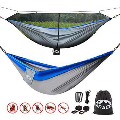 #3. ARAER Double Camping Hammock, 660 Pounds Capacity: