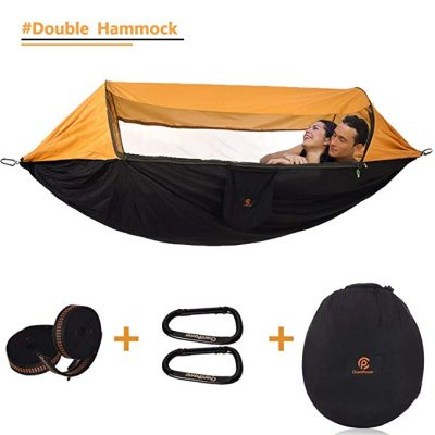 #2. CHANTPOWER 3 in 1 Hammock with Mosquito Net and Sunscreen Cover: