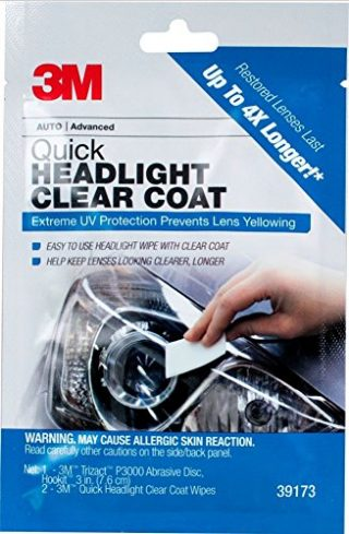 3M 1 Pack Quick Headlight Clear Coat, 39173: