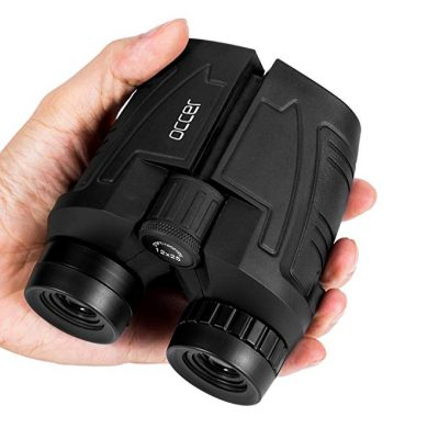 3. Occer 12x25 Compact Binoculars with Low Light Night Vision: