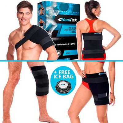 8. Large Ice Pack Hot Cold - Flexible Shoulder Ice Pack Wrap: