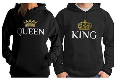 f61cfc14 King & Queen Matching Couple Hoodie Set His & Hers Hoodies: