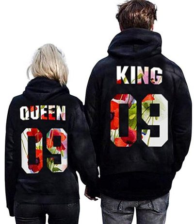 Hooded Sweatshirt Pullover for Couple